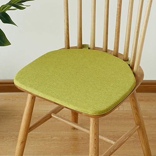 QIAOTT Windsor Chair Cushion,dining Chair Cushion Nonslip Back Seat Pad Wooden Bolt Fastening Solid Color-d 42x38cm(17x15inch)