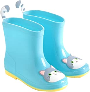 Hopscotch Baby Boys PVC Animal Applique Rain Boots in Blue Color