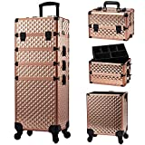 Stagiant Rolling Makeup Train Case Large Storage Cosmetic Trolley 4 in 1 Large Capacity Trolley...