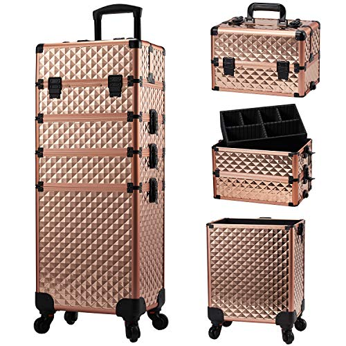 Stagiant Rolling Makeup Train Case Large Storage...