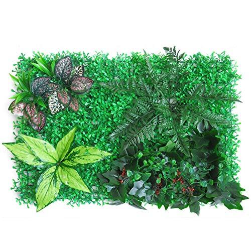Awayhall Hierba Artificial Verde, 40x60CM Pantalla De Privacidad con Protección UV Plantas Artificiales Decorativas para Pared, Jardines, Patio Trasero