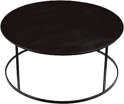 Burnham Home Robertson Round Coffee Table, Dark Brown