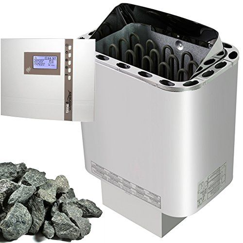 Saunaset Saunaofen Nordex 9kW, Aussensteuerung EOS ECON D2, Olivin-Diabas Steine