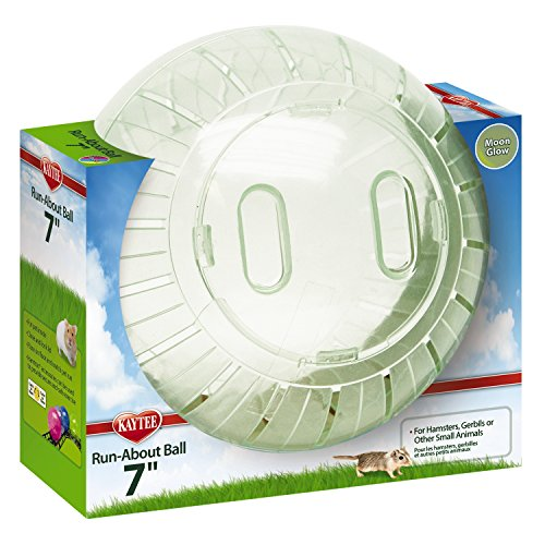 """Pet Toy Hamster Exercise Ball Kaytee Run-About 7"""", Moon Glow"""