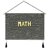 WOTAKAタペストリー 暗い黒板単語数学方程式ジオメトリ軸 壁掛けポスター おしゃれ インテリア モダン 多機能 お店 壁や窓の飾り 個性ギフト 新居祝い