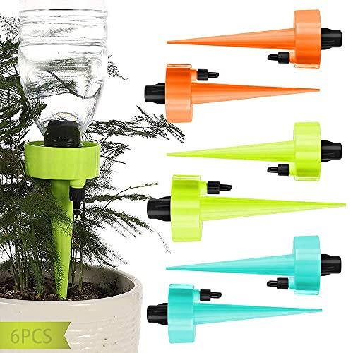 JINGYOUDAMAI 6PCS Automatische Bewässerung von Pflanzen - Blumen - Garten,TopfpflanzenGarten Pflanzen Blumen Bewässerungssystem,Wasserspender für Pflanzen,Einstellbar Bewässerungssystem