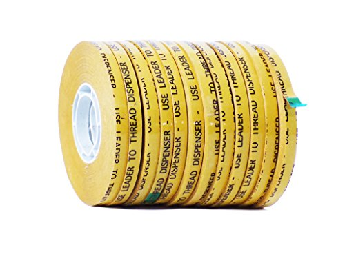 WOD RWATG20 General Purpose ATG Tape, 1/4 inch x 36 yds. (Set of 12 Rolls) Adhesive Transfer Tape Glider Refill Rolls Clear Adhesive on Gold Liner (Acid Free)