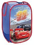 Superdiver Cesta plegable infantil de tela con asas para ropa sucia y juguetes, diseño Cars Rayo McQueen de Disney 36x36x58 centímetros color azul