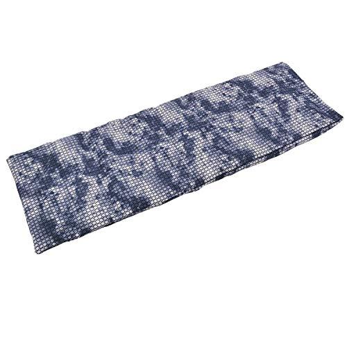 Aminata BALANCE Körnerkissen 60x20 cm Mikrowelle groß für Nacken, Schulter & Rücken Raps-Samen-Körner-Kissen Wärme-Kissen - grau meliert - Motiv für Damen, Frauen & Mädchen - Abnehmbarer Bezug