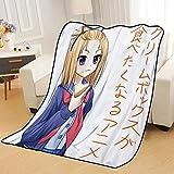 ZKPZYQ Mantas para Cama Flip Flappers Yayaka Mantas Manta de Anime Mantas Suaves y cálidas Manta de Franela Manta de sofá Mantas Mantas de Camping 130x150cm