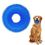 TINGERIA® Juguetes para perros indestructibles, juguete interactivo para cachorros, goma natural con función de cuidado dental para perros medianos y grandes