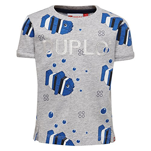 Lego Wear Duplo Boy Tyler 304 T-Shirt, Grau (Grey Melange 912), 18 Mois Bébé garçon