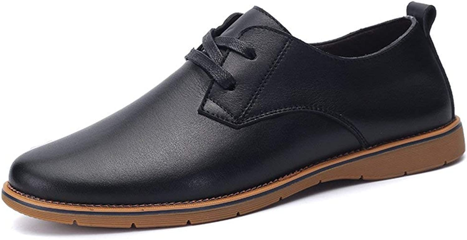 ZHRUI Boy's Men's Stylish Formal Business shoes Lace-up Oxfords (color   Black, Size   9 UK)