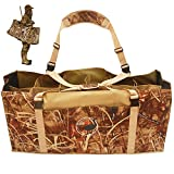DecoyPro 12 Slot Duck Decoy Bag - Padded & Adjustable Shoulder Strap – Water & Dirt Drain System – Slotted Decoy Bags to Protect Duck Decoys