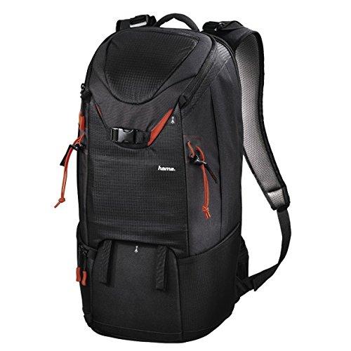Hama Kamerarucksack für 2 DSLR Kameras und Ausrüstung (Fotorucksack, 21 L, Schnellzugriff, Tabletfach, Regenschutz, Stativhalterung, handgepäcktauglich) Kameratasche schwarz
