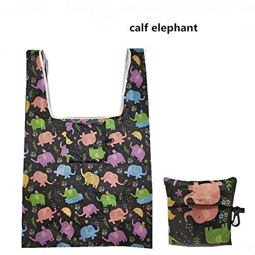 N / A Neue Magic Style Nylon Einkaufstasche Wiederverwendbare Polyester Hand Schulter Handtasche Cartoon Green Falttasche Aufbewahrungstasche 11x11CM