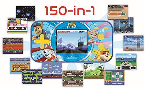 LEXIBOOK- Paw Patrol La Patrulla Canina Chase Compact Cyber Arcade Consola portátil, 150 Juegos, LCD, con Pilas, Rojo/Azul, Color (China)