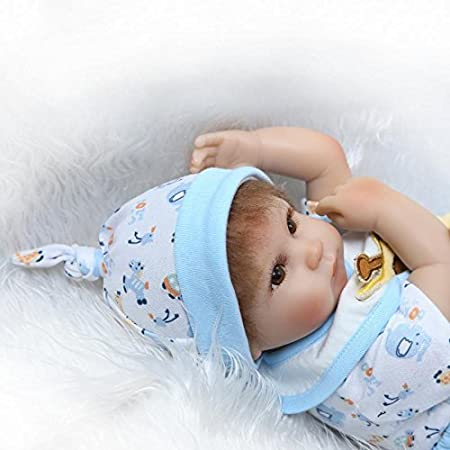 Icradle Reborn Baby Dolls 17 43cm Reborn Baby Doll Soft Silicone Realistic Lifelike Reborn Baby Boy That Look Real Looking New Born Dolls Toddler Xmas Gift Free Magnet Pacifier Blue Amazon Co Uk Toys