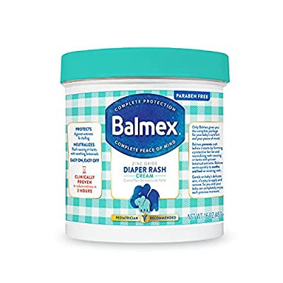 Balmex Complete Protection Baby Diaper Rash Cream with Zinc Oxide + Soothing Botanicals, 16 Ounce from Balmex