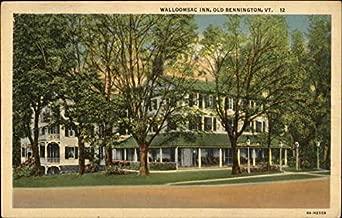 Walloomsac Inn and Grounds Old Bennington, Vermont Original Vintage Postcard