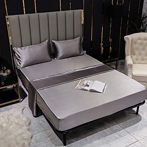 IKITOBI Sábana bajera de lujo para cama individual, 152 x 203 + 40 cm