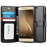 J&D Case Compatible for Huawei P9 Lite Case, [Wallet Stand]