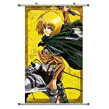 A Wide Variety of Attack on Titan Anime Wall Scroll Hanging Decor (Armin Arlert 1)