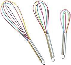 Roestvrijstalen Handvat Kleur Siliconen Garde Huishoudelijke Handmatige Garde (8 Inch+ 10 Inch+ 12 Inch Elk) 3 Stks/Zak