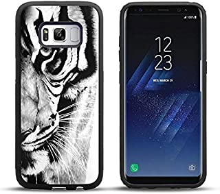 Samsung S8 Case Retro black and white tiger pattern, DOO UC Laser Technology for Protective Case for Samsung Galaxy S8 Black