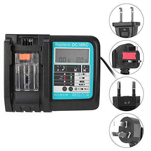 Beennex DC18RC Li-Ion Battery Charger with Screen for Makita 14.4-18V BL1815 BL1415 BL1460