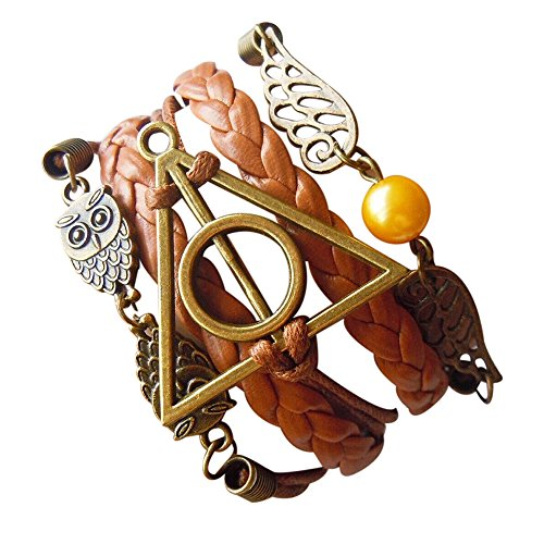 Bentley's Bargain Warehouse - Di-y0wj-42z0 - brazalete harry potter cuerda piel trenzada...