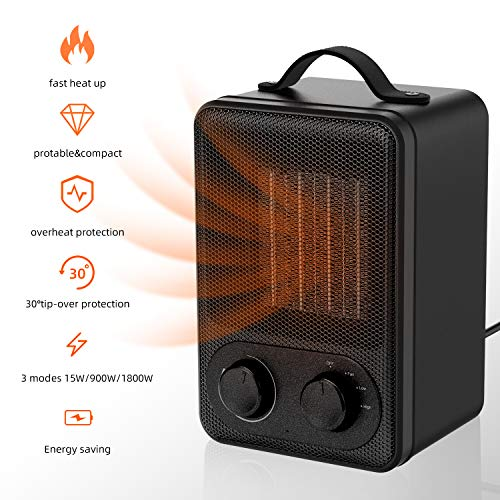 Calefactor Eléctrico Portátil Calentador 1800W