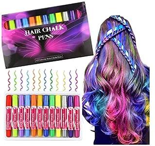 Buluri 12 colores Set de tiza para el cabello,Tinte para el cabello plumas de tiza profesionales para el cabello, plumas de tinte para el cabello (Tinte para el cabello)