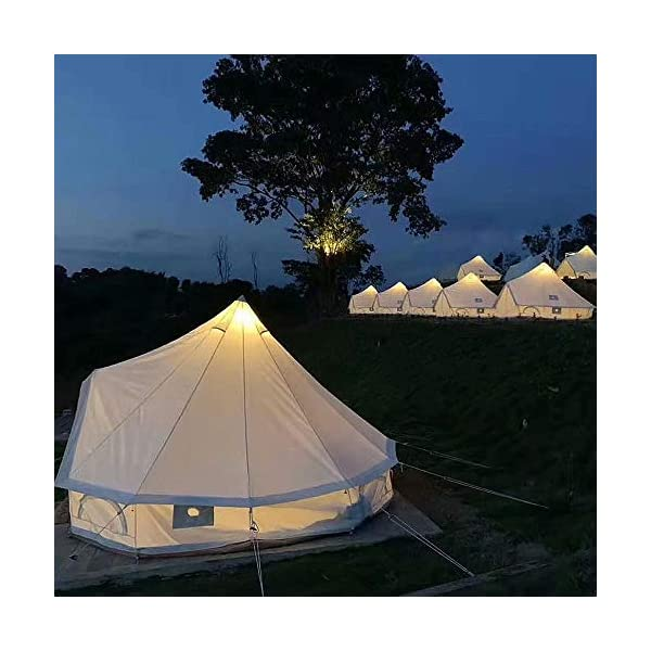 4 Season Bell Tent Outdoor Family Camping Waterproof Bell Tent with Zipped for Family Camping Outdoor Hunting 2