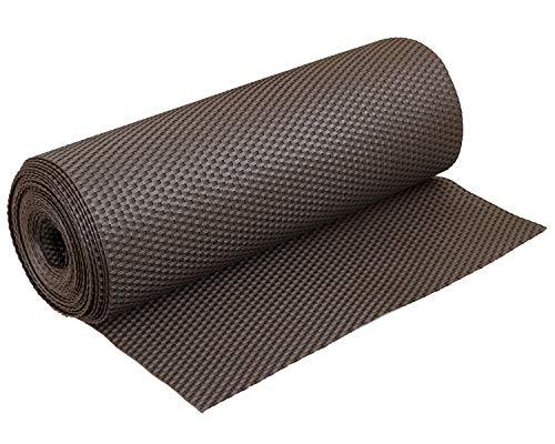 Haga® - Tela de ratán sintético para la terraza, balcón, para privacidad, marrón oscuro, anchura de 0,9m (producto al metro)