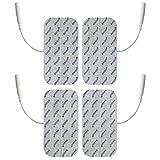 Électrodes pour électrostimulation TENS EMS - 4 électrodes 10 x 5 cm - connexion...