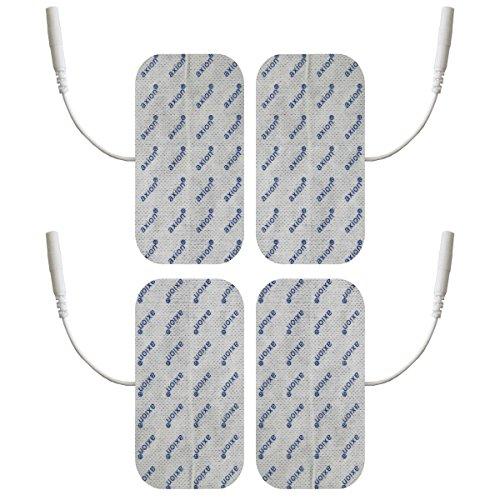 Elektroden/Pads, 4 Stück, 100x50mm, selbstklebend, für TENS - EMS - Reizstromgerät mit 2mm-Anschluss