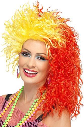 Smiffys Women's 80's Fun Girl Crimp Wig for Cyndi Lauper Dress-Up
