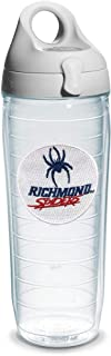 Tervis Richmond University Emblem Individual Water Bottle with Gray Lid, 24 oz, Clear