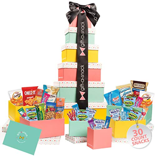Product Image of the Tower Snack Box Variety Pack (30 Count) Fathers Day Gift Basket for Dad -...