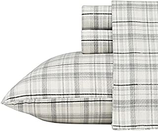 Eddie Bauer Beacon Hill Flannel Sheet Set, Queen
