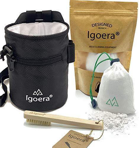 Igoera Original Boulder- / Kletter Set inkl. Chalkbag, Boulder-Bürste und Chalkball | die ideale Ausrüstung für maximalen Spaß