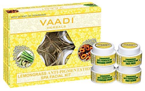Vaadi Herbals Organic Facial Kit - Lemongrass Anti Pigmentation Spa Facial Kit with Cedarwood Extract 70g