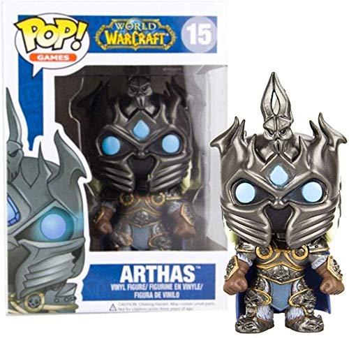 ADIS Rocket Head Figur Pop-Spiel: World of Warcraft Illidan Lich Arthas Sylvanas Autodekoration (Farbe: A) -A-Zweite