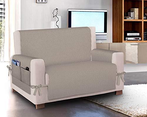 HomeLife universele stoelbekleding, van katoen, gemaakt in Italië, gestreept, voor stoelen en banken
