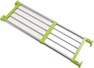 BAOYOUNI Étagère extensible à tension en métal robuste pour placard, séparateur, cintre de rangement pour salle de bain, c...
