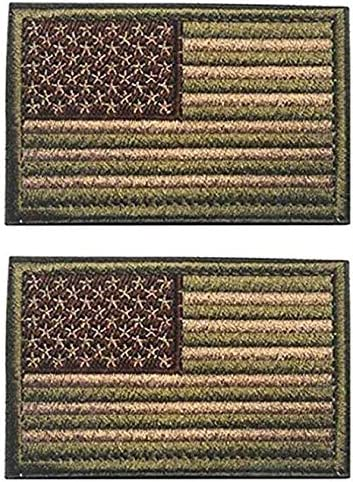 Antrix 2 Pieces Be super welcome Ranking TOP6 Tactical Patches of USA a Flag US Hook American