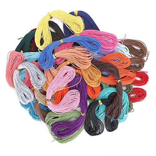 Cuerda de hilo encerado de mano de obra exquisita para joyería DIY, para hacer artesanías