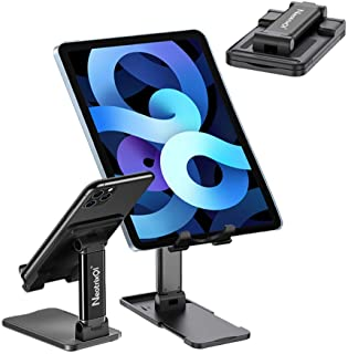 Tablet Cell Phone Stand for Desk, Foldable Portable Stand Holder, Tablet Holder Desktop Phone Stand Compatible with iPhone...