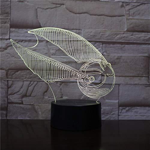 Tischlampe USB kreative 3D LED Vision 7 Farbe Schlafzimmer Geschenk Nacht Nachtlicht 1 Controller